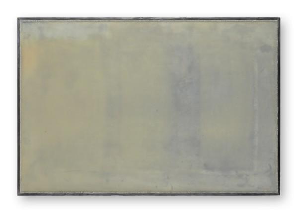 Katsuhito Nishikawa #022029 am Teich / Due Torri, 2009 Öl und Encaustic auf Holz, gerahmt H. 42,5 x 63 cm