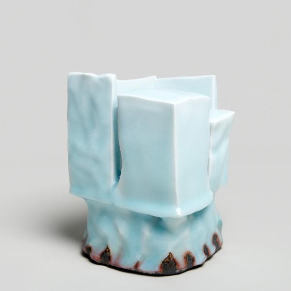 Masamichi Yoshikawa #021948 Kayho (Luxuriant pottery palace), 2019 Porzellan mit Seihakuji-Glasur 19,5 x 13,5 x 13,5 cm