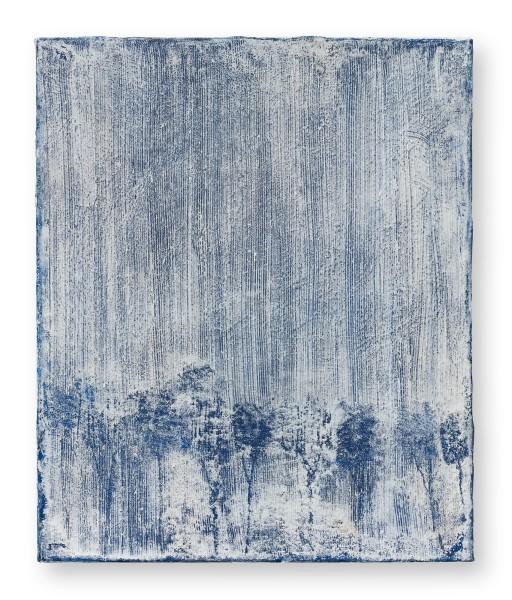 Hideaki Yamanobe #022212 Indigo Night No. 1, 2020 Acryl auf Nessel 52 x 43 x 4 cm