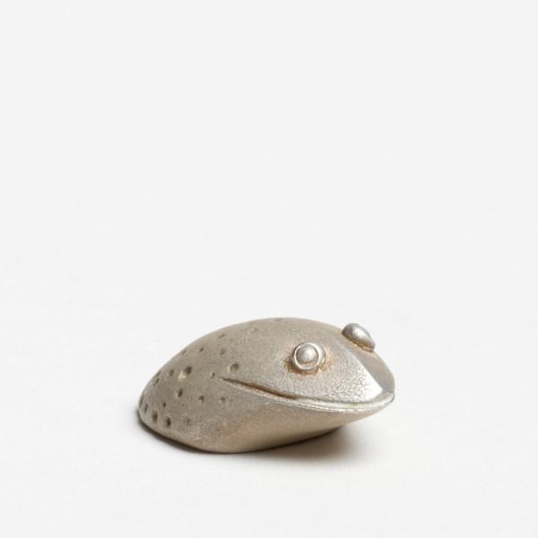 Andreas Caderas. Frösche #021303 Frosch, 2015 Silber 1,3 x 2,3 x 3,4 cm