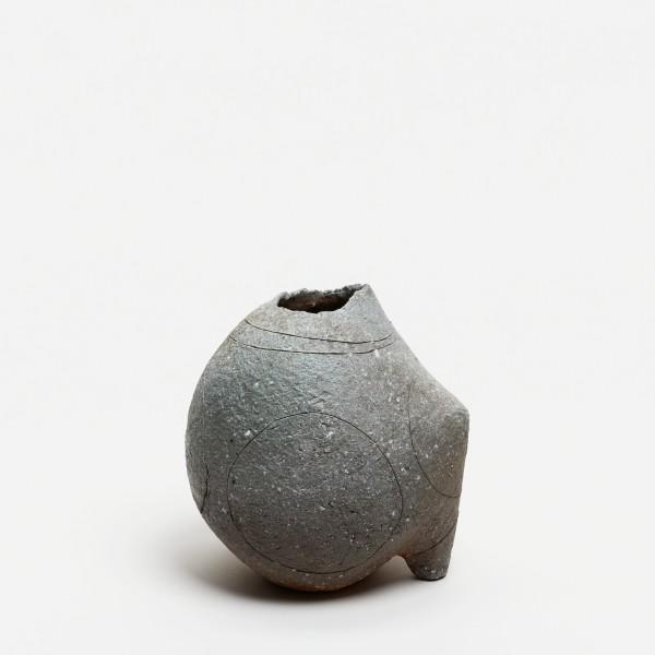 Yasuhisa Kohyama #022061 Suemono (antike Keramik), Vase, 2017 Steinzeug, Anagama-Brand 17 x 16 x 13 cm
