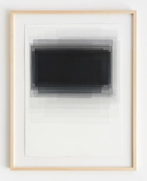 Joachim Bandau #021907 o.T., 10.11.2013 / Q2, 2013 Aquarell auf 'Fabriano Artistico' 76 x 56 cm (Ahorn – Rahmen 90 x 70 cm Mirogard Plus)