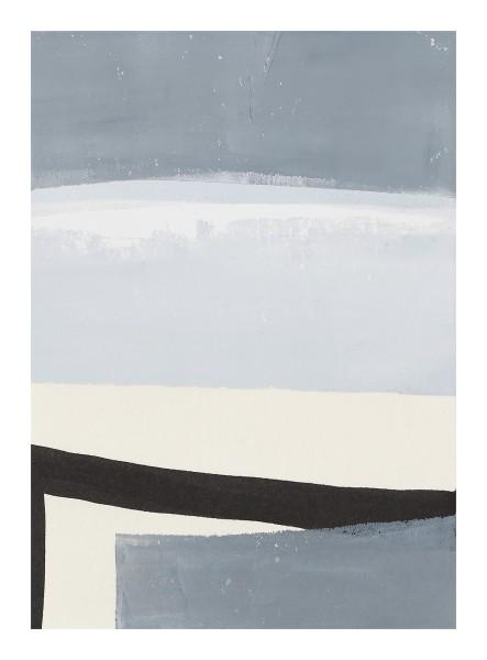 Monika Huber #019453 grey / white / black (D), 2011 Printing color on paper 21 x 14,75 cm