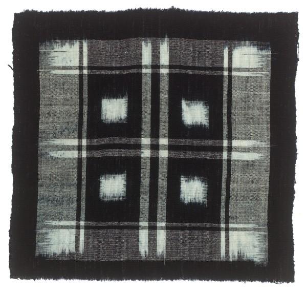 Textilien, #004177 Kasuri, Aus Streifen zusammengesetztes großes Quadratmuster