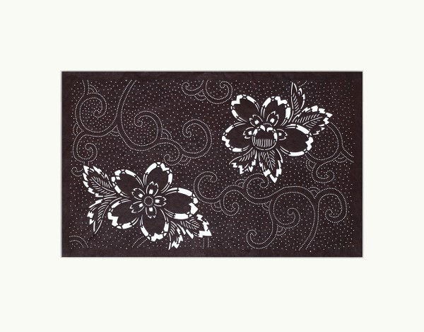 Katagami / Uwagami, #016807 Katagami (Textilfärbeschablone), Japan, Späte Edo-Zeit / Meiji-Zeit (2. H. 19. Jh. / Anfang 20. Jh.)