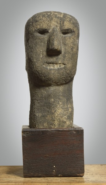 Early Stone Carving Celtic Stone Head c.3rd Century BC