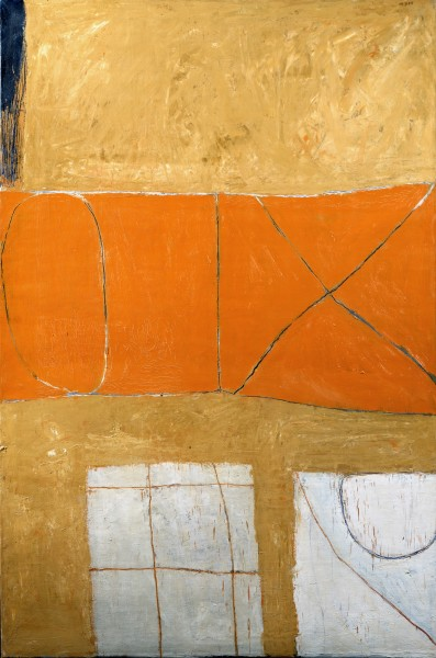 William Scott Signs: Orange & Ochre 1962
