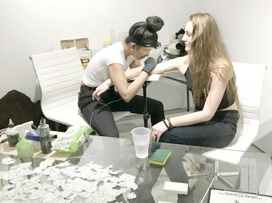 Anthropocene Impact Tattoo Booth
