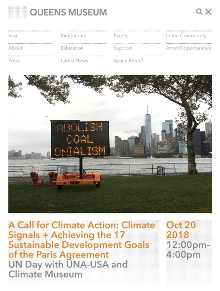 Queens Museum: A Call for Climate Action