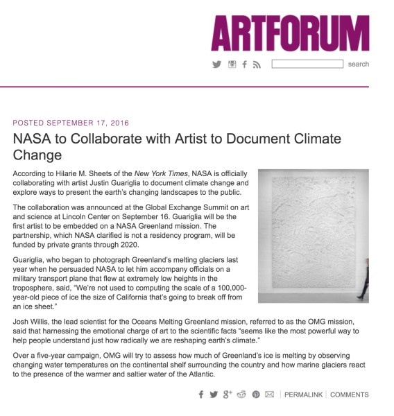 NASA to Collaborate with Artist to Document Climate Change