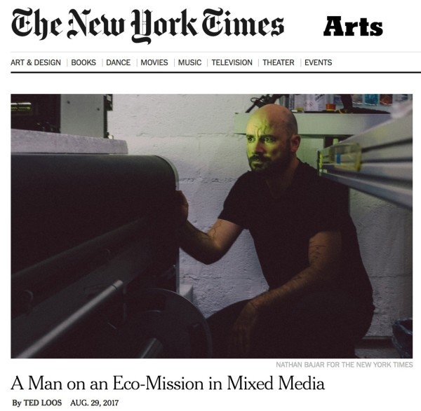 A Man on an Eco-Mission in Mixed Media