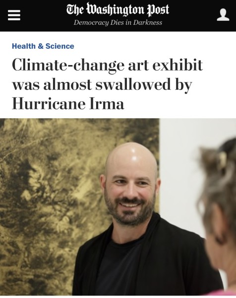 Climate-change art exhibit was almost swallowed by Hurricane Irma