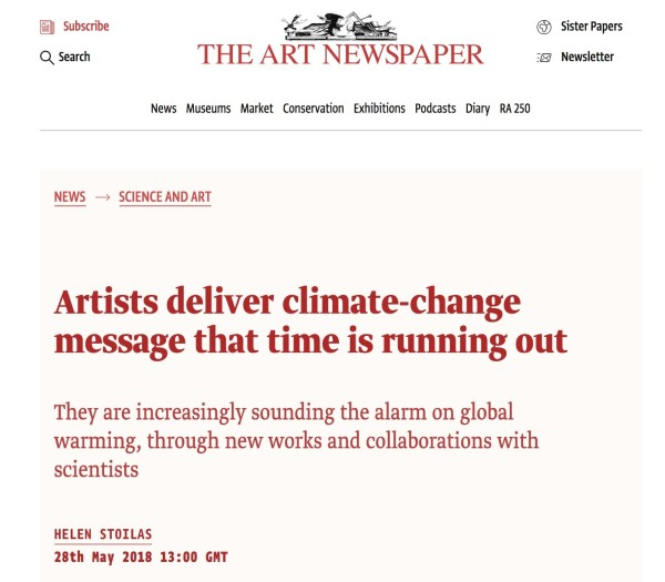 Artists deliver climate-change message that time is running out