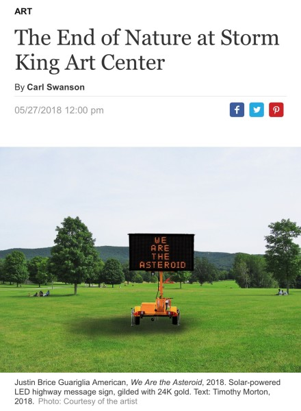 The End of Nature at Storm King Art Center