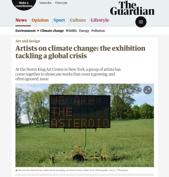 Artists on climate change: the exhibition tackling a global crisis