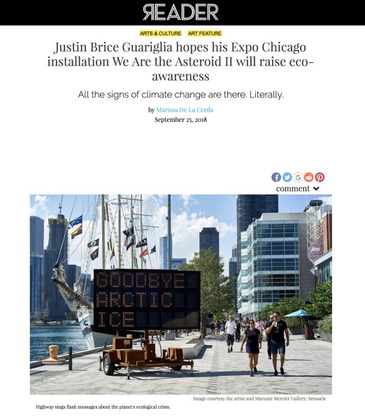 Justin Brice Guariglia hopes his Expo Chicago installation We Are the Asteroid II will raise eco-awareness
