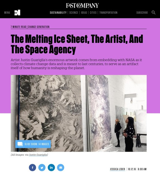 The Melting Ice Sheet, The Artist, And The Space Agency