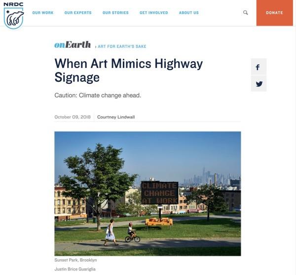 When Art Mimics Highway Signage
