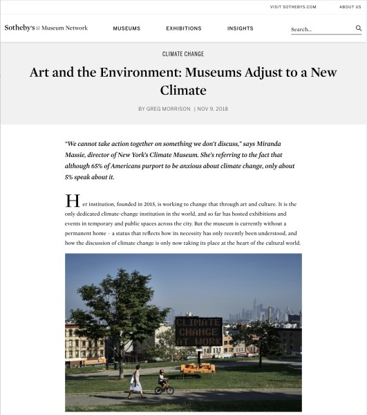 Art and the Environment: Museums Adjust to a New Climate