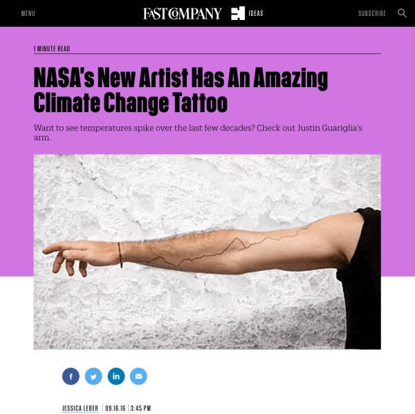 NASA's New Artist Has An Amazing Climate Change Tattoo