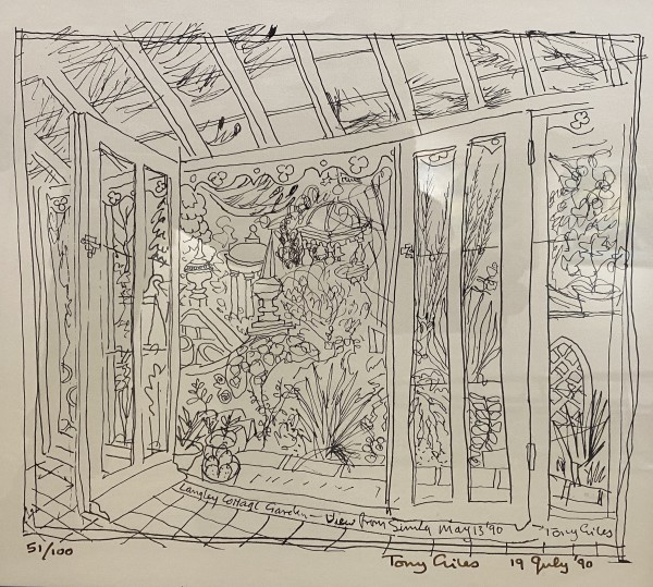 TONY GILES, THE ARTIST'S GARDEN AT LANGLEY COTTAGE, 1990