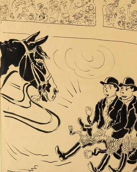 Charles Walter Simpson as THE WAG , GENERAL MacCARTER AND HORACE STUCK TO THE SADDLE, c1930