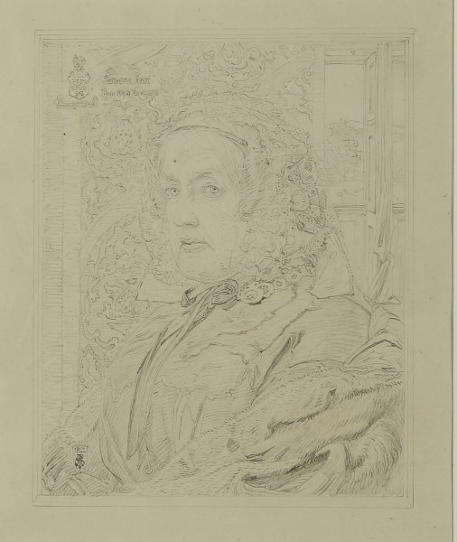 Anthony Frederick Augustus SANDYS, SUSANNA ROSE: pencil study for the oil portrait, 1862