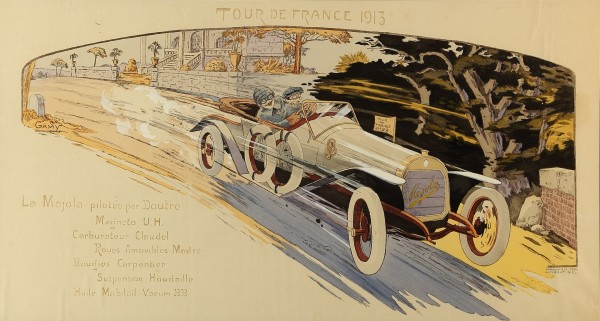 Marguerite Montaut - 'GAMY', LA TOUR DE FRANCE AUTOMOBILE , 1913