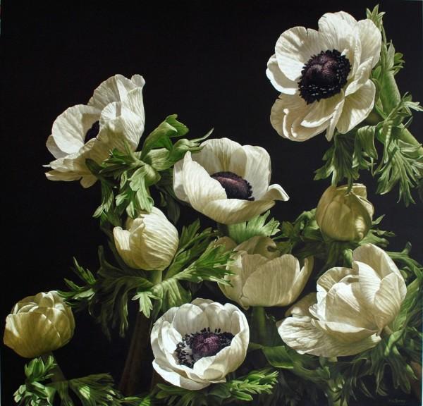 Mia Tarney, White Anemones, 2010
