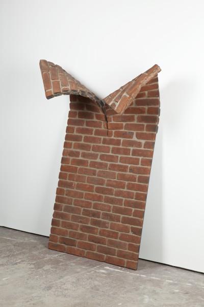 Alex Chinneck, Brick Study C (folded wall), 2012