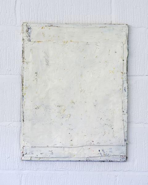 Bobby Dowler, Painting-Object_(01.08.12) (white), 2012