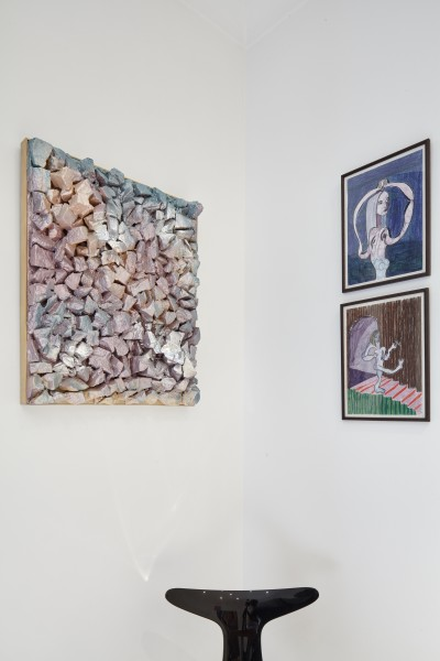 Adham Faramawy (left) and Nel Aerts (drawings on right)