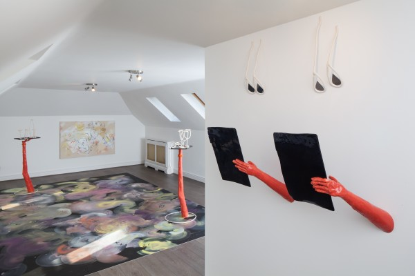France-Lise McGurn (floor and wall paintings) and Emma Hart (ceramic works)