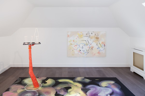 France-Lise McGurn (floor and wall paintings) and Emma Hart (ceramic work)