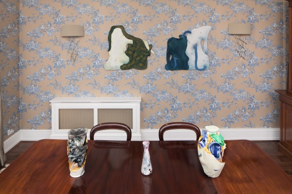 Bea Bonafini (wall works) and Linday Lawson (ceramic works)