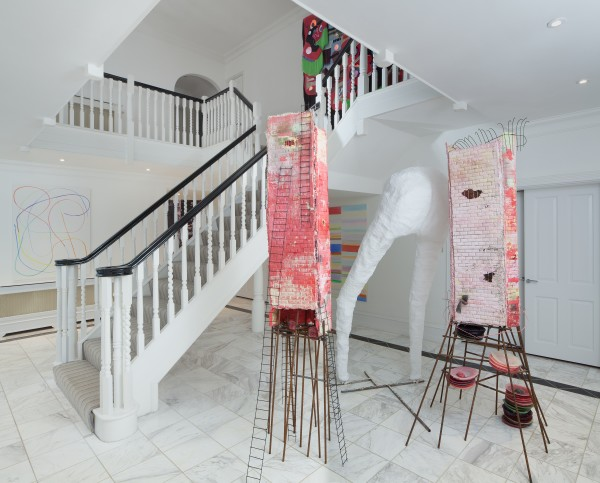 Rebecca Ackroyd (sculptures below), Alex Clarke (paintings) and Zadie Xa (above)
