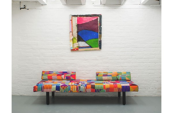 Bobby Dowler (painting) and Bethan Laura Wood (daybed)
