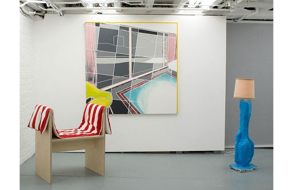 Studio LW (stool) and David Ben White (painting and lamp work)