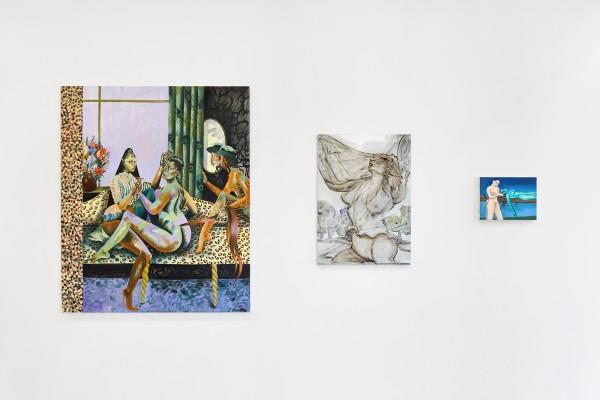 From left: Jessie Makinson (painting); Hannah Murgatroyd (painting); Sara Anstis (painting)