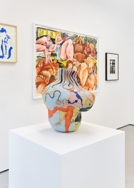 From left: Lisa Brice (work on paper); Cristina BanBan (work on paper); Rafaela de Ascanio (sculpture); Hannah Wilke (photograph)