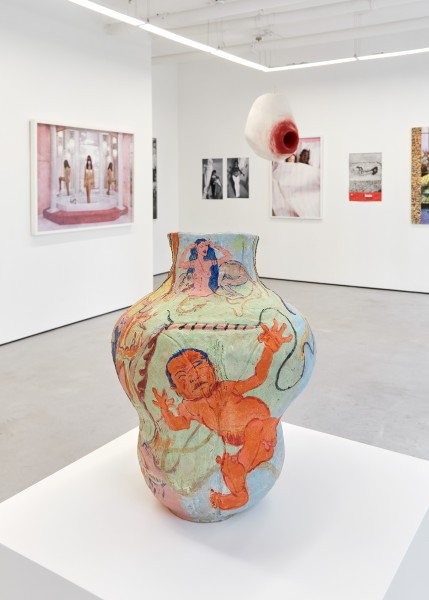 From left: Juno Calypso (photograph); Rafaela de Ascanio (sculpture); Alina Szapocznikow (archival photographs); Tai Shani (sculpture); Mary Stephenson (photograph)