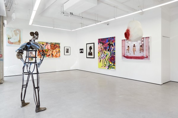 From left: Chelsea Culprit (painting); Kira Freije (sculpture); Cristina BanBan (work on paper); Hannah Wilke (photograph); Sophie Thun (photograph); Zanele Muholi (photograph); Mira Dancy (painting); Juno Calpyso (photograph); Tai Shani (sculpture)