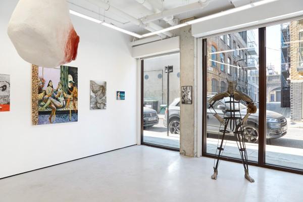 From left: Yayoi Kusama (art ephemera); Jessie Makinson (painting); Tai Shani (sculpture); Hannah Murgatroyd (painting); Sara Anstis (painting); Kirsten Justesen (photograph); Kira Freije (sculpture)