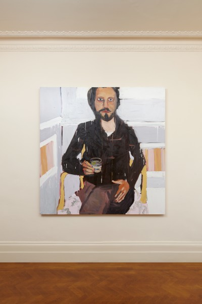 Chantal Joffe, Man with a Drink, 2008