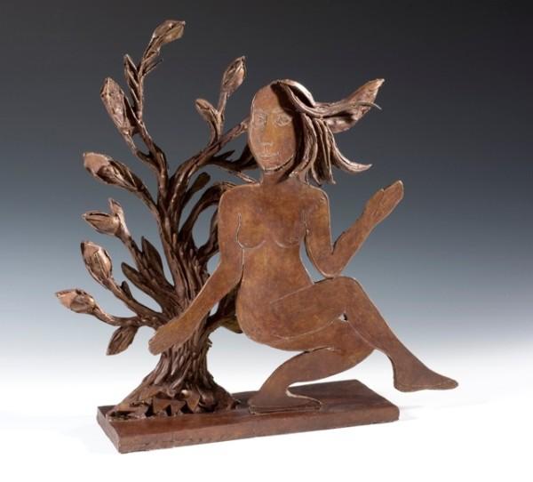 Eileen Cooper, Dancing Woman with Tree, 2014