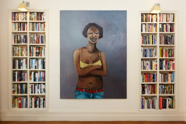 Lynette Yiadom-Boakye, Heaven Help Us All (install shot), 2005