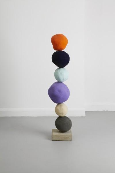 Annie Morris, Stack 6, Cadmium Orange, 2014