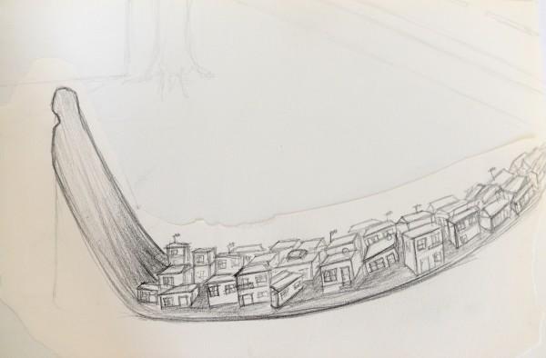 Güler Ates, Dwelling Drawing, 2014