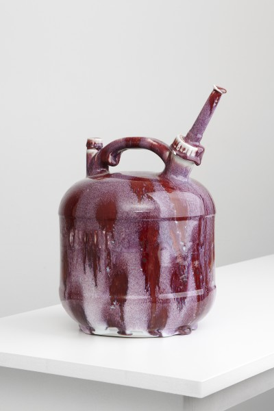 Matthias Merkel Hess, Eagle 2 1/2 Gallon Can (purple with red spots), 2013