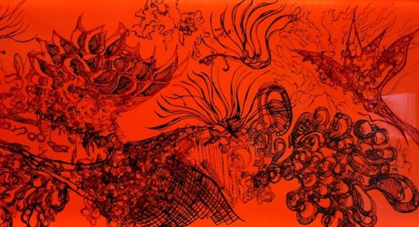 Helen Brough, Oriental Luminescence; Crimson Red, 2012